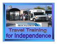 TRAX Rider's Training Guide - Tehama County Public Works