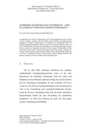 Briefe Schreiben Im Unterricht : Interferenzen in der schriftlichen raumbezogenen daf