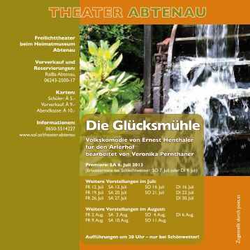 Die Glücksmühle - Theater Abtenau