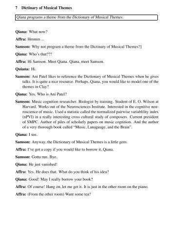 Dictionary of Musical Themes
