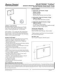 Washbrook Urinal American Standard