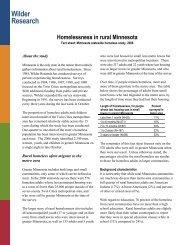 Homelessness in Rural Minnesota, Fact Sheet