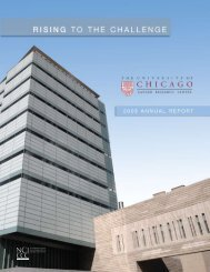 Annual Report 2009 - The University of Chicago Medicine ...