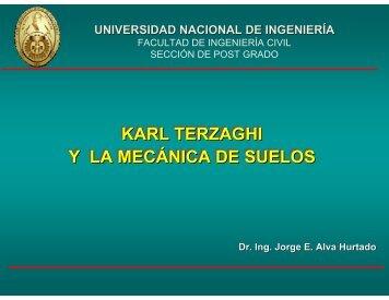 Karl Terzaghi y la Mecánica de Suelos - Dr. Ing. Jorge Elias Alva ...