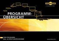 ÜBERSICHT PROGRAMM- PKW-PROGRAMM, BAU - Humbaur