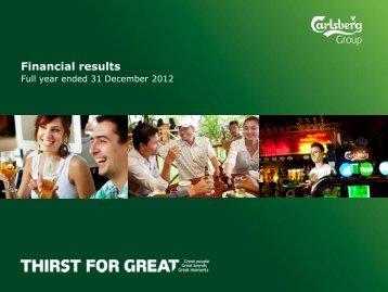 Financial results - Carlsberg Group