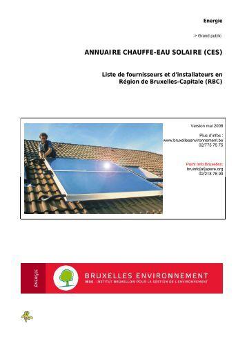Annuaire des installateurs de CHAUFFE-EAU SOLAIRE En ... - APERe