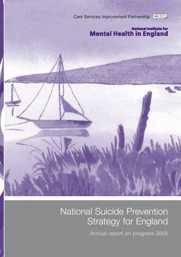 National Suicide Prevention Strategy for England - Nacro