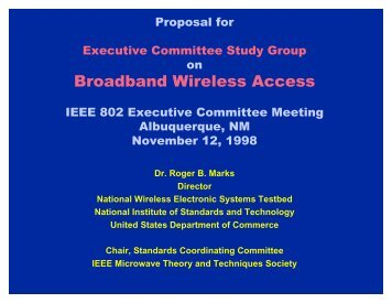 Proposal for Study Group, Approved by 802 Executive Committee on ...