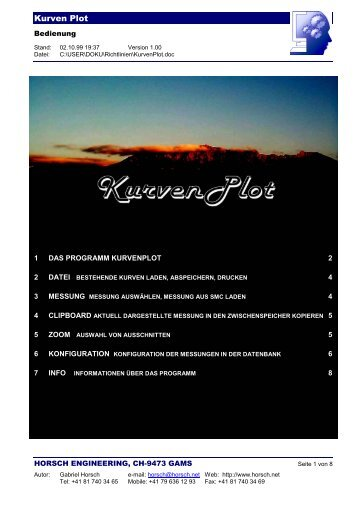 Kurven Plot - Horsch Engineering
