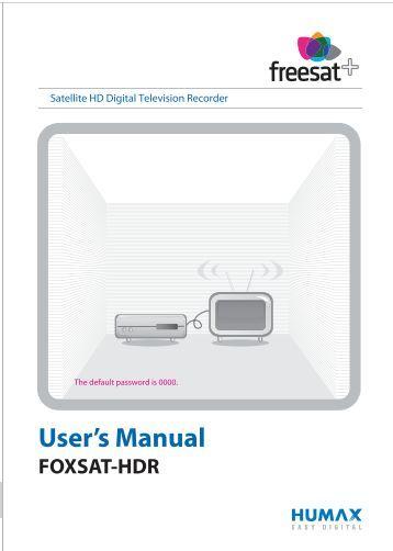 Humax Foxsat Hdr 320gb manual pdf