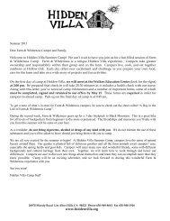 Farm and Wilderness Welcome Packet - Hidden Villa