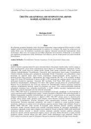 Üretim Araştırmaları Sempozyumlarının Karşılaştırmalı Analizi