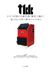 HOT WATER SOLID FUEL FIRED BOILER Operating ... - Termomont