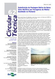 C ircular T écnica - Embrapa Pantanal