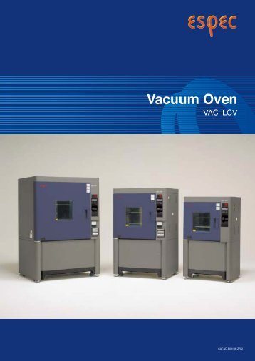 Espec VAC and LCV Vacuum Oven Datasheet - MHz Electronics, Inc