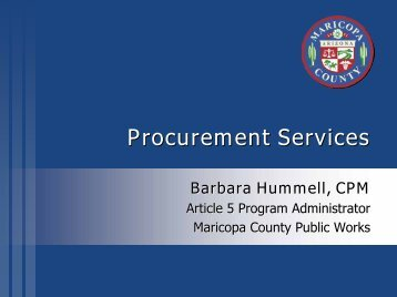 Procurement Services - Flood Control District of Maricopa County