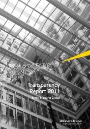 Transparency Report 2011 - Ernst & Young Global