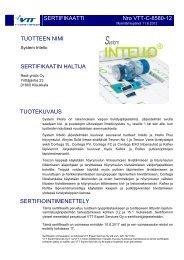 Lataa VTT:n Sertifikaatti System INTELLO pdf-muodossa - Tiivistalo