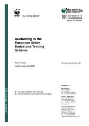 Auctioning in the European Union Emissions Trading Scheme - WWF