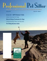 Spring 2010 - National Association of Professional Pet Sitters