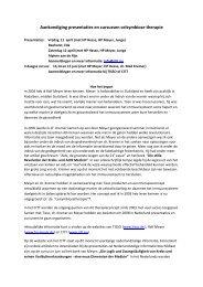 Aankondiging presentaties en cursussen celsymbiose therapie - CITT
