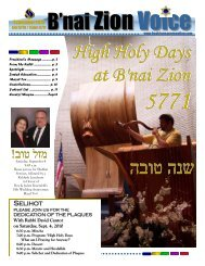 B'naiZion Voice - B'nai Zion Congregation