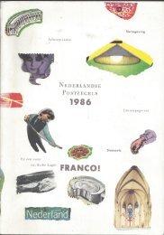 Franco! Postzegeljaarboek 1986; Franco! Postage Stamp Yearbook 1986