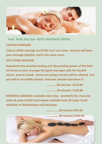 Massage - Salon massage body body paris ...