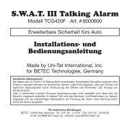 S.W.A.T. III Talking Alarm - Betec