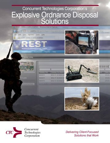 Explosive Ordnance Disposal Solutions - Concurrent Technologies ...