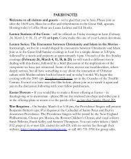 PARISH NOTES Welcome to all visitors and guests ... - St. Stephen's