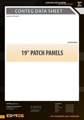 """19"""" PATCH PANELS - Conteg"""