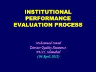 INSTITUTIONAL PERFORMANCE EVALUATION PROCESS