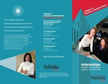 Internships - UNO CBA