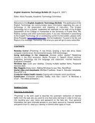 English Academic Technology Bulletin 25 - Facultad de Humanidades
