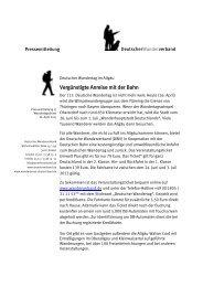 113. Deutscher Wandertag im Allgäu - Wanderverein Porta ...