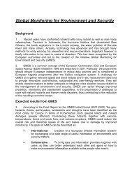Global Monitoring for Environment and Security - Integrated Defence ...