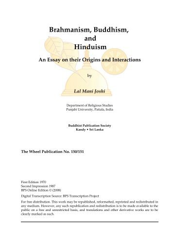 How To Write A Thesis Essay Brahmanism Buddhism And Hinduism  Buddhist Publication Society Interview Essay Paper also Essay Of Health Buddhism And Comparative Religion And Other Essays  Buddhist  Example Essay Thesis