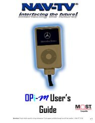Visio-OPi-M iPod Interface User's Guide 05-23-07.vsd - Autotoys