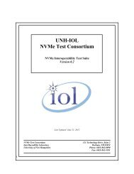 NVMe Interoperability Test Suite - The University of New Hampshire ...