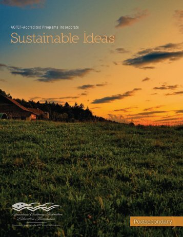 Sustainable Ideas - American Culinary Federation