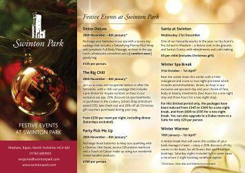 Festive Events at Swinton Park