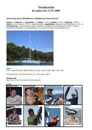 Juli 2009 Tour - Skippertipps Kroatien