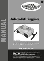 Automatisk rengjører - Intex Nordic
