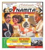 Agosto, 2013 Ed. 37 - Dinamita Magazine