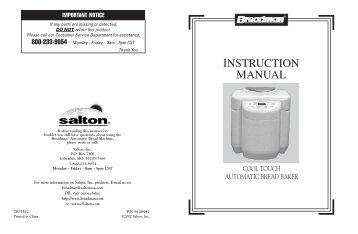 breadman magazines rh yumpu com Breadman Bread Machine Manuals Breadman Manual TR 555