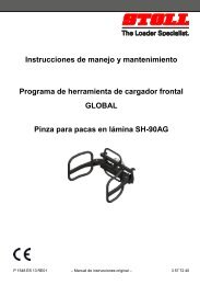 Instrucciones de manejo y mantenimiento Programa de ... - Stoll