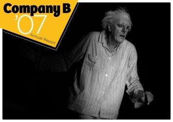 Company B Annual Report 2007 - Belvoir St Theatre