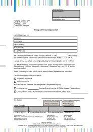Antrag Fördermitgliedschaft - Hungrig-Online